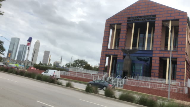 traffic and federal reserve bank in houston - money politics stock videos & royalty-free footage