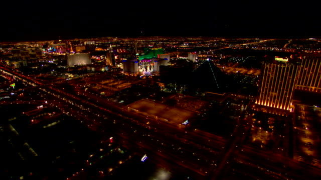 traffic and las vegas strip at night - the strip las vegas stock videos & royalty-free footage