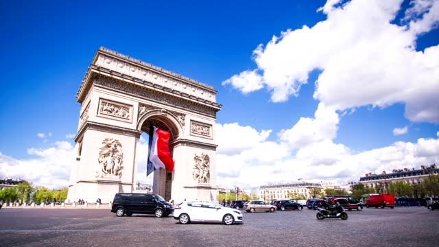 信号を凱旋門 - パリ凱旋門点の映像素材/bロール