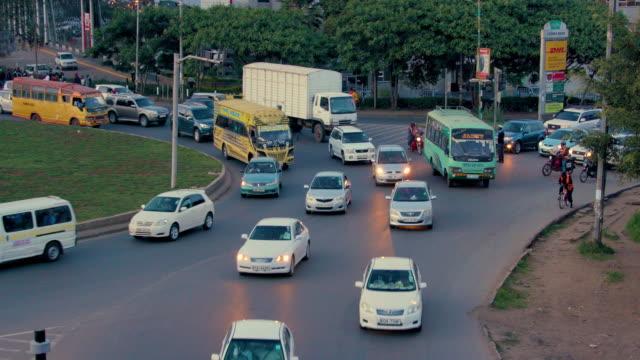 traffic at lusaka rd & mombasa rd roundabout nairobi  kenya  africa - zambia stock videos & royalty-free footage