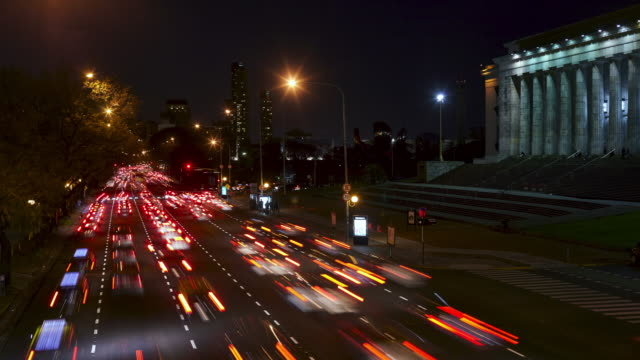 traffic at night - buenos aires province stock videos & royalty-free footage