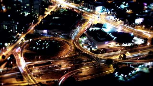 traffic at night - long exposure stock videos & royalty-free footage