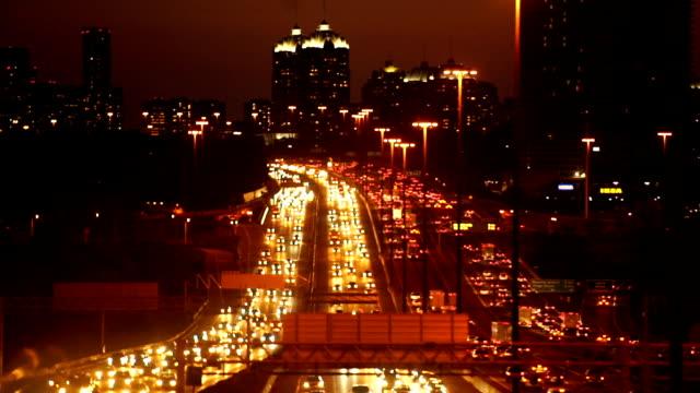 traffic at night,toronto - north york stock videos & royalty-free footage