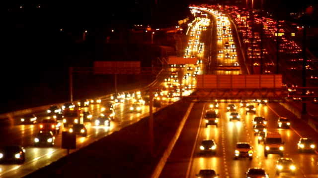 traffic at night,toronto - on the move stock videos & royalty-free footage
