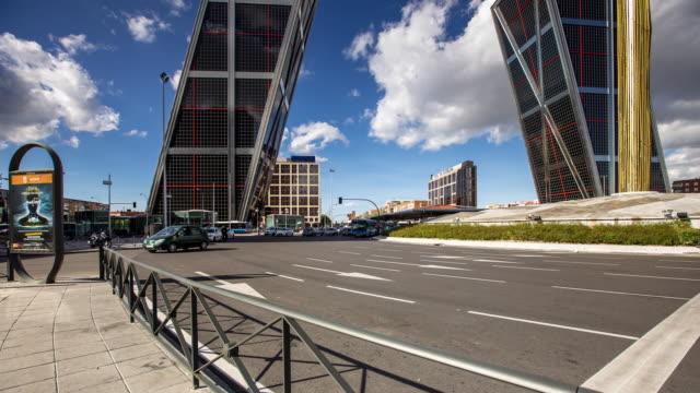 Traffic at Plaza de Castilla - Motion Timelapse