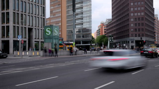 Traffic at Potsdamer Platz
