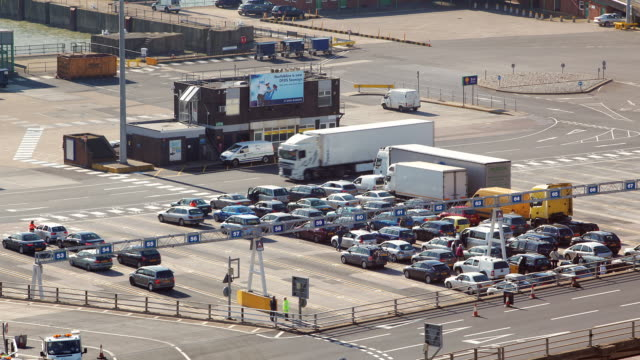 t/l traffic at sea port / dover, england, united kingdom - dover england stock videos and b-roll footage