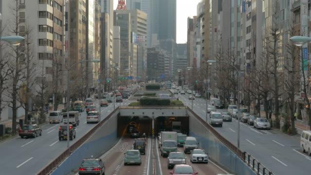 Traffic at Showa Street in Tokyo, Japan
