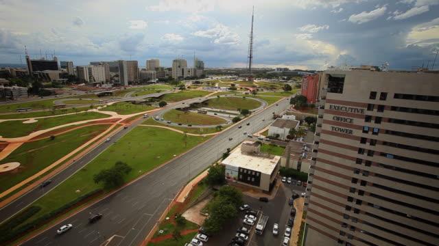 Traffic at The Monumental Axis, Brasilia