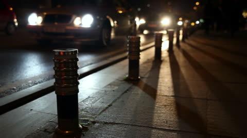 踊る影の夜間交通 - 影のみ点の映像素材/bロール