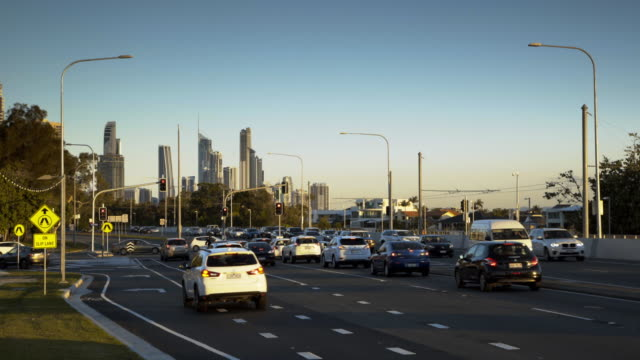 Traffic builds up at red light