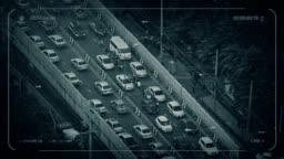 Traffic Cam CCTV Heavy Rush Hour Traffic