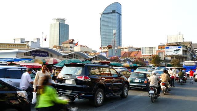 traffic cambodia - phnom penh stock videos and b-roll footage