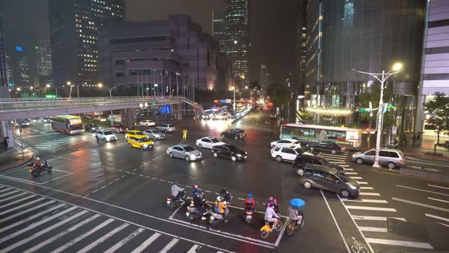 traffic central of taipei city, taiwan. - taiwan stock videos & royalty-free footage