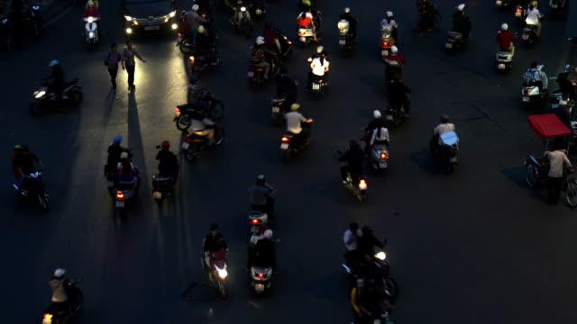 Traffic Chaos Hanoi Vietnam