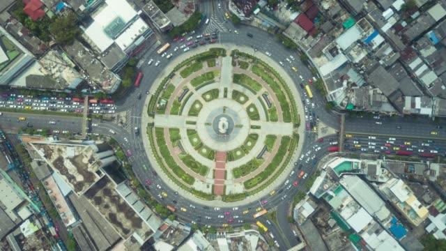 Traffic circle Aerial view