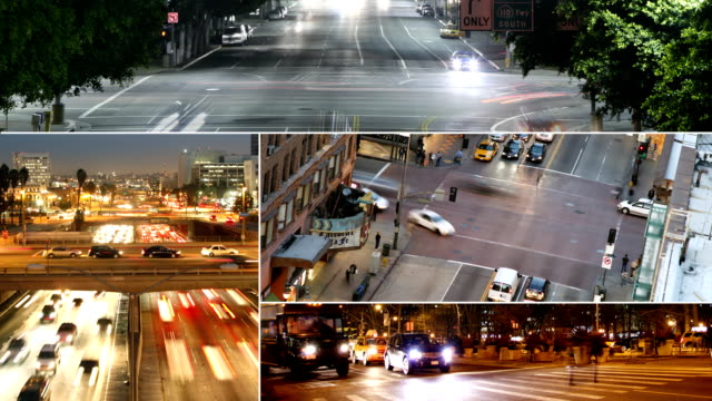 traffic collage - montage stock videos & royalty-free footage