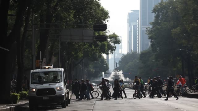 traffic comes into the core of mexico city during morning rush hour in mexico on august 10 2016 shots wide shots of traffic moving beneath during... - nordic skiing event stock videos and b-roll footage