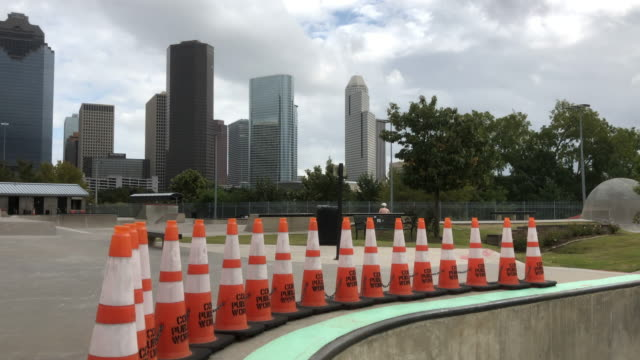 traffic cone, skateboarding and cityscape - traffic cone stock videos & royalty-free footage