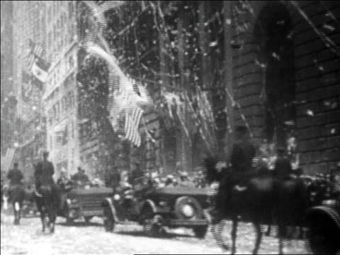 view traffic confetti in ticker tape parade for lindbergh / newsreel - herbivorous stock videos & royalty-free footage