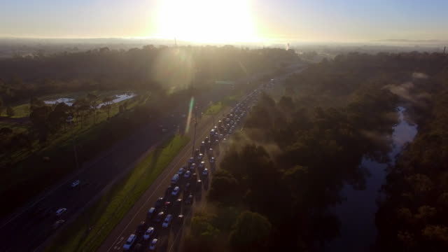traffic congestion during peak hour melbourne - david ewing stock videos & royalty-free footage