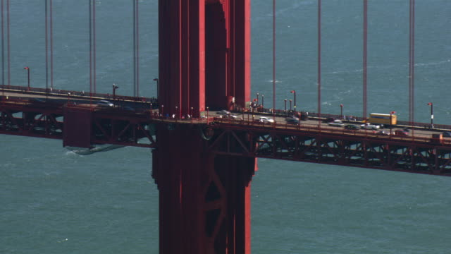 traffic crosses the golden gate bridge. - golden gate bridge stock videos & royalty-free footage