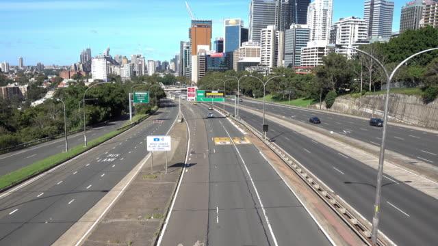 stockvideo's en b-roll-footage met verkeer tijdens covid19 sydney - sydney australië