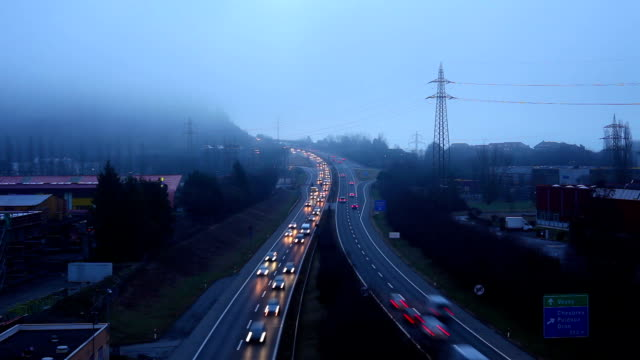traffic expressway in Switzerland