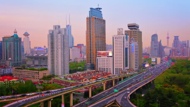 traffic from shanghai. - high dynamic range imaging stock videos and b-roll footage