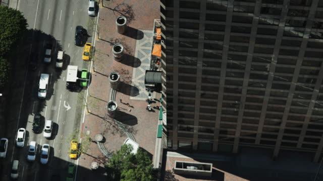 DTLA Traffic From Skyscraper Rooftop