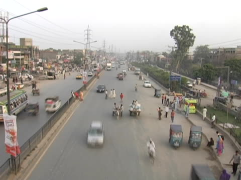 traffic going wild - lahore pakistan stock videos & royalty-free footage
