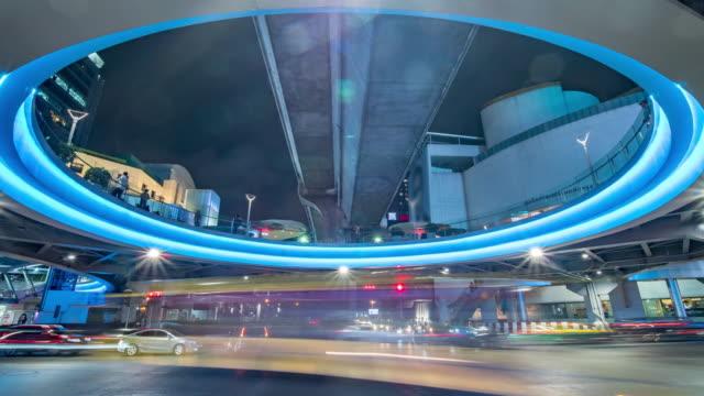 traffic illuminated night - awe stock videos & royalty-free footage