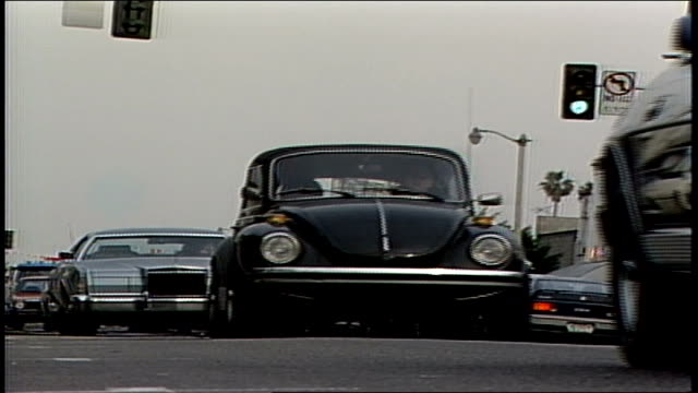 traffic in 1987 la - beetle stock videos & royalty-free footage