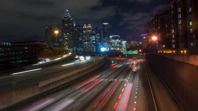 t/l 6k traffic in atlanta - georgia us state stock videos & royalty-free footage