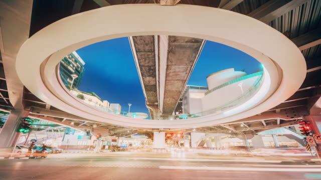 traffic in bangkok thailand at twilight time - bangkok stock videos & royalty-free footage