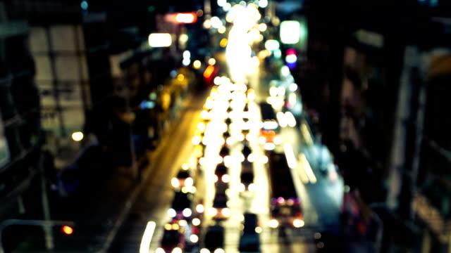 バンコクの交通 - 乗り物の明かり点の映像素材/bロール