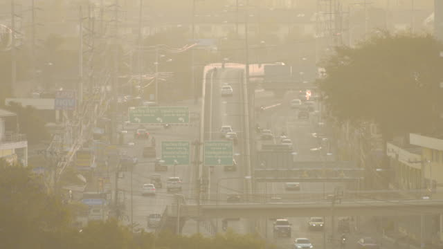 traffic in bangkok - smog stock videos and b-roll footage