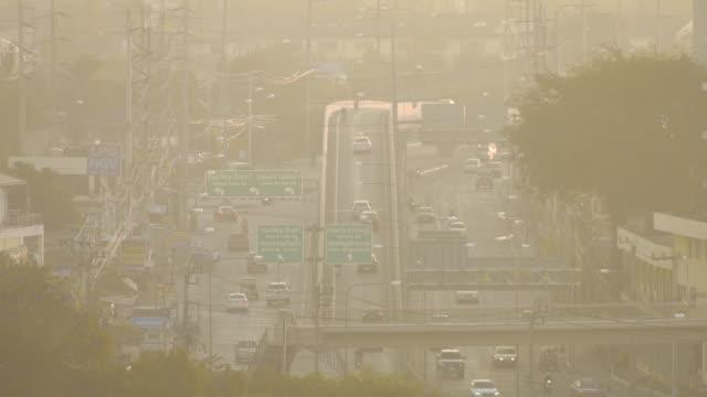 traffic in bangkok - smog stock videos & royalty-free footage