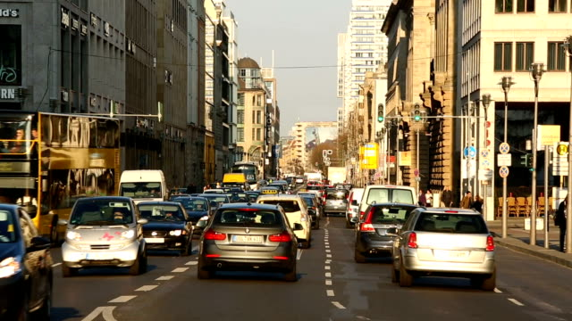 traffic in berlin - traffic stock videos & royalty-free footage