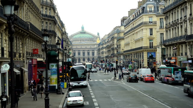 traffic in champs elysees street - avenue des champs elysees stock videos & royalty-free footage