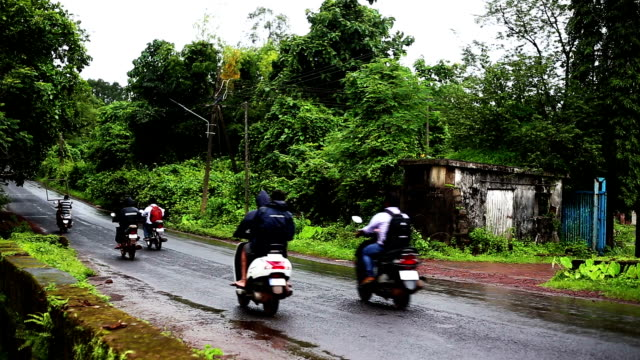 Traffic in country road, Goa