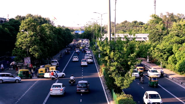 traffic in delhi - traffic stock videos & royalty-free footage
