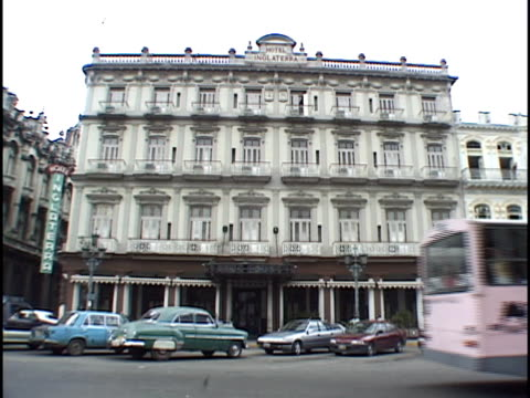 MS, Traffic in front of Hotel Inglaterra, Havana, Cuba