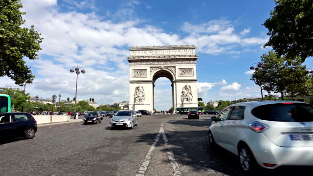 Traffic in front of the Arc de Triomphe in Paris
