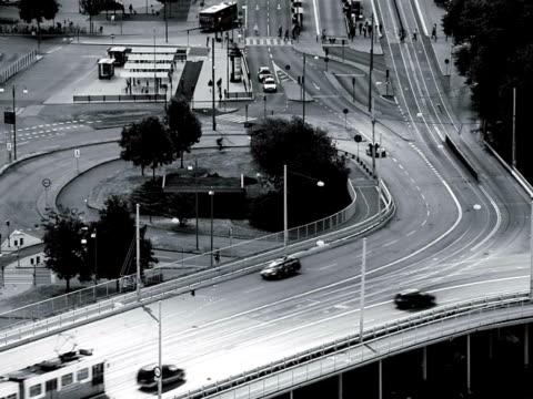 Traffic in Gothenburg Sweden.