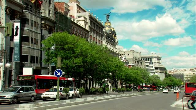 WS Traffic in Gran Via, Madrid, Spain