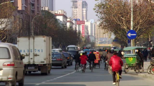 traffic in hangzhou - zhejiang province stock videos & royalty-free footage