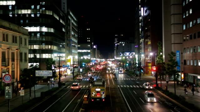 verkehr in hiroshima, japan - trolleybus stock-videos und b-roll-filmmaterial