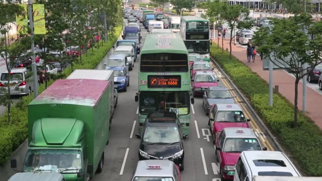 Traffic in Hong Kong due to the protests outside the Central Government Offices in Hong Kong China on Friday Oct 10 2014 Hong Kong prodemocracy...