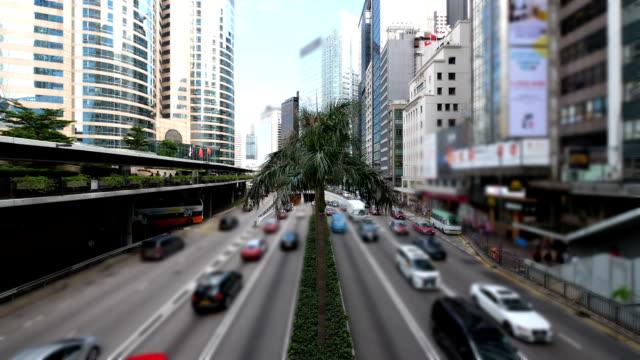 traffic in hong kong island - hong kong island stock videos & royalty-free footage